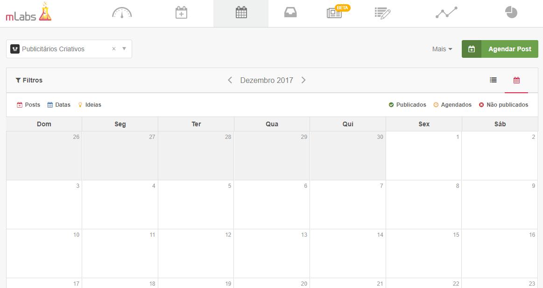 calendário mlabs